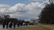 Stock Video Footage of Abraham Lincoln Memorial Washington DC United States USA Tourists Visiting Day