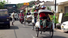 Stock Video Footage of Road traffic at the small town of Java island, Indonesia