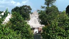 East gate Gedhong Gapura Panggung of the Taman Sari Water Castle. Stock Footage