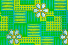 Green checked pattern Stock Photos