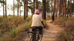 Bike path Congo Stock Footage