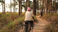 Stock Video Footage of Bike path Congo