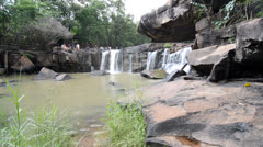 Waterfall at chaiyaphum in Thailand Stock Footage