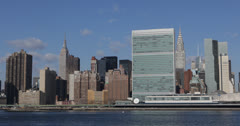 Ultra HD 4K Midtown Manhattan, NYC Skyline Empire State Building, New York City Stock Footage