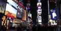 Ultra HD 4K Crowds of People in Bright Times Square New York City Famous Tourist Footage