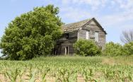 Stock Photo of abandoned farm house