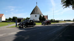 Veteran cars rally on Bornholm Stock Footage