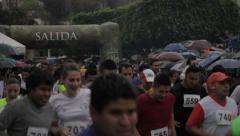 Half marathon in mexico Stock Footage