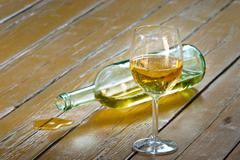 Alcohol bottle Stock Photos