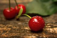 Tasty red cherry Stock Photos