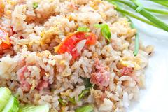Fermented pork fried rice Stock Photos