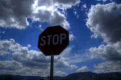 Stop sign timelapse Stock Footage
