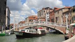 Venice, Italy Bridge Time-lapse Day Stock Footage