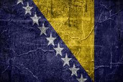 flag of bosnia and herzegovina - stock illustration