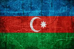 Flag of azerbaijan Stock Illustration