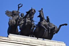 Wellington Arch Quadriga in London - stock photo