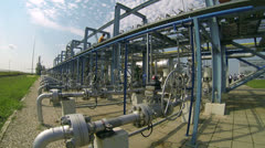 Gas Storage Facility Stock Footage