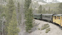 Train in the mountains Stock Footage