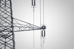 Detail of an electricity pylon Stock Photos