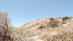 Pan on desert slow motion Mojave - stock footage