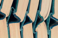 Stock Photo of stack old hardcover books