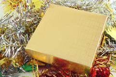 gold box - stock photo
