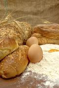 tasty fresh bread. - stock photo
