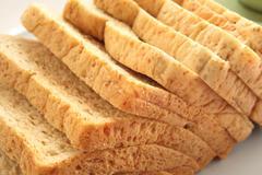 Sliced of whole wheat bread Stock Photos
