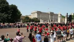 Buckingham Palace Changing the Guard Stock Footage