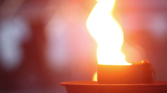 Close-up shot of a quenchless flame Stock Footage