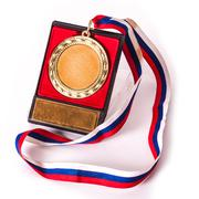 old gold medal - stock photo