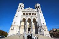 Stock Photo of famous basilica of notre-dame de fourviere