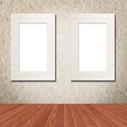 Wooden photo frame Stock Photos