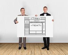 Template web page Stock Photos
