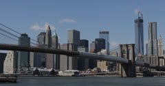 Ultra HD 4K New York City Skyline One World Trade Center Downtown Manhattan WTC Stock Footage