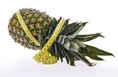 Pineapple two Stock Photos