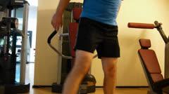 Dip machine workout Stock Footage