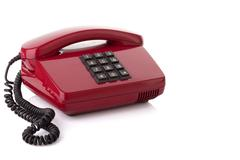 retro telephone - stock photo