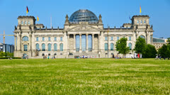 Reichstag in Berlin, Germany Stock Footage