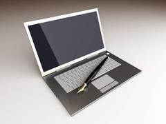 Digital writer. Stock Illustration