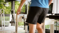 doing the legs workout - stock footage