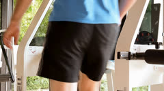 Working out the legs - stock footage
