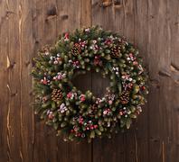 advent christmas wreath decoration - stock photo