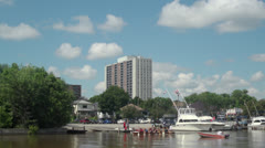 Dragon Boat Training Stock Footage