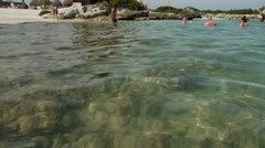 Tropical Coral Reef Beach 360 Pan Shot Stock Footage