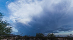 HD 24p Powerful Majestic Lenticular builds storm cell V1 Stock Footage