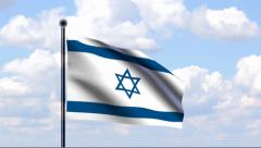 Animated Flag of Israel Stock Footage