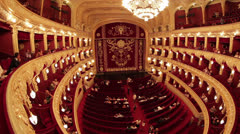 Classical Theater Interior Stock Footage