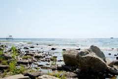 Door County Rocky Beach - stock photo