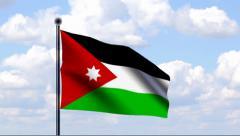 Animated Flag of Jordan Stock Footage
